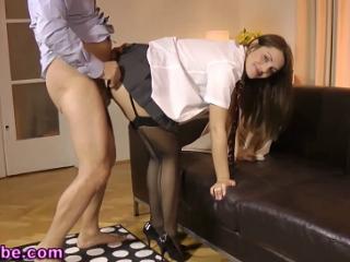 Офисный секс в чулках